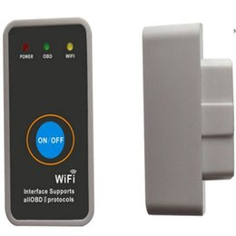 Wholesale Porsche Switch - Carkitsshop Mini ELM327 WIFI iPhone Ipad Code Scanner, OBD II Auto Code Scanner with Switch, Free Shipping