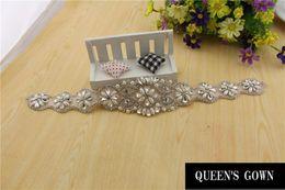 Wholesale Man Wedding Belts - Hot Sale Wedding Belt  Crown Hair accessories Bridal Belt Waistband Long Ribbon Satin Wedding Sash Wedding Accessories Free Shipping 008