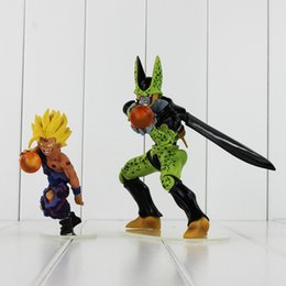 Wholesale Kid Gohan - Anime Dragon Ball Cell Son Gohan PVC Action Figure Collectable Model Toy for kids gift free shipping retail