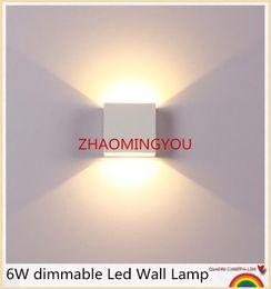 luz nocturna de escaleras Rebajas USTED 6W regulable Lámpara de pared Led Luminaria Apliques Pared Lamparas de Pared Aplique de pared Dormitorio LED Lámpara de pared Blanco / Blanco cálido