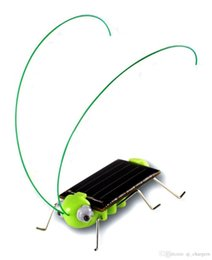 Wholesale Solar Powered Crickets - Solar Power Toy Energy Crazy Grasshopper Cricket Kit christmas Toy 5pcs lot