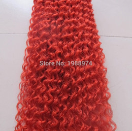 Wholesale Deep Curly Micro Loop - Brazilian Hair wave7A Red Brazilian Virgin Human remy Hair Micro Nano Loop Ring Hair Extensions kinky Curly queen Hair Products