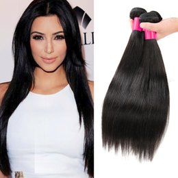 Wholesale Chinese Hair Bundle Deals - Brazilian Virgin Hair Straight Virgin Human Hair Weave Bundles 3Pcs 100% Brazilian Malaysian Peruvian Straight Virgin Hair Bundle Deals
