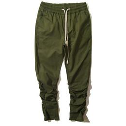 Wholesale Drop Crotch Joggers - Wholesale-Brand Designer Mens Drop Crotch Sweatpants Ankle Zipper Drawstring Man Hip Hop Harem Pants Elastic Cuff Joggers Men Pantalones