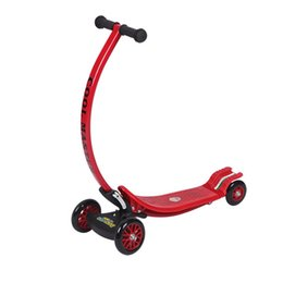 Wholesale Wheel Exercises - Wholesale- Kids Exercise Toys Bending Design 4 Wheel Folding Scooter City Roller Skateboard Child Scooter Foldable With Rear Foot Brake hot