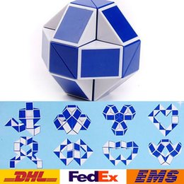 Wholesale Magic Snake Shapes - DHL Mini Magic Cube New Hot Snake Shape Toy Game 3D Cube Puzzle Twist Puzzle Toy Gift Random Intelligence Toys Supertop Gifts WX-T17