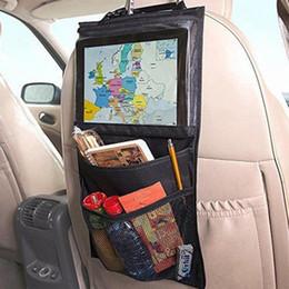Wholesale Organizer For Car Seats - Universal Multi-Pocket Large Capacity Car Backseat Hanging Bag Auto Car Seat Back Organizer Holder Bag For Cellphone Stuff