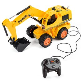 Wholesale Excavator Children Toy - Wholesale- HELIWAY RC Truck Wire Control Excavator Toy Super Power Remote Control Truck Toys RC Electric Engineering Toy for Children