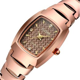Wholesale Dive Lady Watch - Watch women fashion luxury Brand Top gold Watches DOM 327 lady quartz wristwatches dive 200m clock relogio feminino