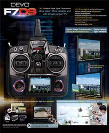 Wholesale Walkera Transmitter Battery - Walkera DEVO F7DS 2.4G RC Transmitter With RX701Receiver Camera Battery