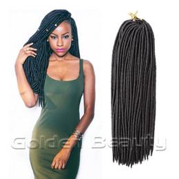 Wholesale Crochet Loops - Wholesale-2016 Hot Synthetic Crochet Braiding Hair Pieces18inch 80g Hard Faux Locs Dreadlocs Senegalese Twist Braid Loop Hair Extension