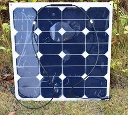 Wholesale Wholesale Motorcycle Batteries - 50W SunPower Solar Panel Charger Water Resistant Charging for 18V 12V Car Motorcycle Boat Battery