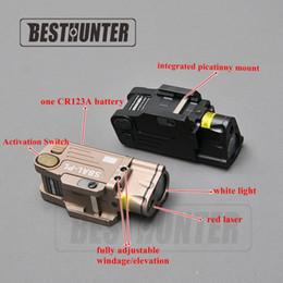 jagd-taschenlampen Rabatt Taktisches CNC fertiges SBAL-PL LED-Licht mit roter Laser-Pistolen-Gewehr-Taschenlampen-konstanter vorübergehender Röhrenblitz-Taschenlampen-Jagd