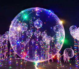 Wholesale Beautiful Items - Flashing Latex LED Party Balloon Luminous Transparent BOBO Balloon Beautiful 2017 Halloween Day Party LED Decoration LED Poms Cheer Items
