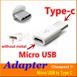 Wholesale Cheapest Micro Usb Adapter - Micro USB to USB 2.0 Type-C USB Data Adapter connector For Note7 new MacBook ChromeBook Pixel Nexus 5X 6P Nexus 6P Nokia N1 cheapest 500pcs