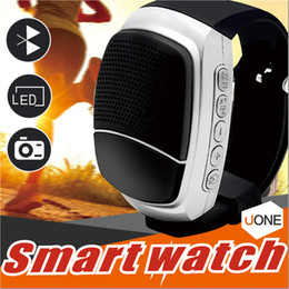 Wholesale Free Email Packages - B90 Bluetooth Smart Watch wireless Portable speaker DZ09 GT08 smart watches Support Memory TF Card Hands-free call Wrisbrand with package