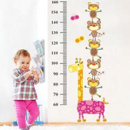 Wholesale Tall Nursery Stickers - Special three generations of removable wall stickers cartoon stickers AY862 tall giraffe Fun