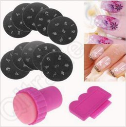Wholesale Nail Stamping Printing - 3pcs set Nail Art Stamping Stamper Plates Set Nail Stamp Template Nail Design Polish Print Mould Nail Stencil Tools CCA4879 200set