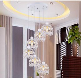 Wholesale Crystal Iron Chandelier - 2016 LED Crystal Pendant Lamp K9 Crystal Creative restaurant wrought iron chandelier 1~ 6 head LED E27 base corridor crystalline Light