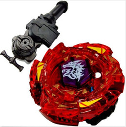 Wholesale D R L - Peonza Beyblade Metal Fusion Top Metal Master Fight BB116-D Fang Leone W105R2F + L-R Starter Launcher + Hand Grip+Light Launcher