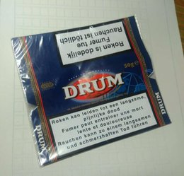 Wholesale Wholesale Printing Papers - 2017 new arrive hand Tobacco packs hand Rolling Cigarette tobacco drum tobacco plastic boxers printed Cases 10X50g lot UK DUTY PAID