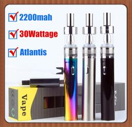 kit cloud Promotion TVR 30W Mod vapeur nuage Une spire Kit départ Atlantis Vape stylo 30W Puissance forte Puissance 2200mAh Passage USB VS kangertech box mods