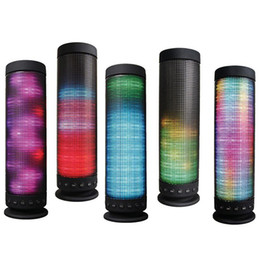 Wholesale Outdoor Home Speakers - High Quality Portable Outdoor Home LED Light Dance 360 Degree Stereo Bluetooth 4.0 Wireless Speaker DHL Fast Shipping