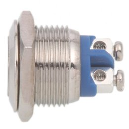 Wholesale 16mm Switch - For free shipping Mounting hole size 16MM Stainless Steel Metal dust and waterproof use at Resetable and starting Button switch