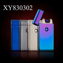 Wholesale Electric Buttons - Best 2016 USB Electric Rechargeable Arc Lighter, spark At The Push Of a Button, Flameless, Windproof, Eco Friendly & Energy saving