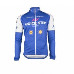 Wholesale Thermal Jersey Fleece - WINTER FLEECE THERMAL 2017 QUICK STEP PRO TEAM 2 COLORS ONLY LONG SLEEVE CYCLING JERSEY SIZE:XS-4XL
