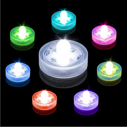 Wholesale beautiful christmas decorations - Hotselling 10pcs lot Beautiful Romantic Waterproof Submersible LED Tea Light Holiday Birthday Wedding Decoration Multicolor Led Candle Light