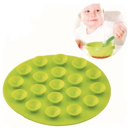 Wholesale Wholesale Dining Placemats - Universal Silicone Sucker Placemats Mat Table Coasters Kitchen Dining Table For Baby Infant Feeding 100%New Good Quality