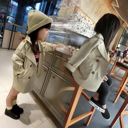 Wholesale Dust Coat Baby - Autumn Kids Girls Trench Coat Baby Double-breasted Wind Dust Coat Children Outwears Coats Baby Child Clothing 12539