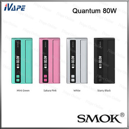 Wholesale Trigger Wholesale - Smok Quantum 80W TC Box Mod 100% Original Smoktech Quantum Ecigarette Mods With TC VW Modes Over-The-Air OTA Technology Trigger Style Fire B