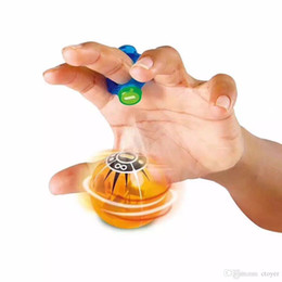 Wholesale Sphere Rings - Hot Christmas toy Speed Magneto Spheres Magnetic Ball Finger Ring Fidget Spinner Toy SPEED Flash Lamp Colorful Fingers Kids Toy Gift
