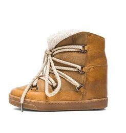 Wholesale Snow Boots Sheep - Isable Suede New Nowles Snow Sheep Natural Wool Fur Boots In Camel