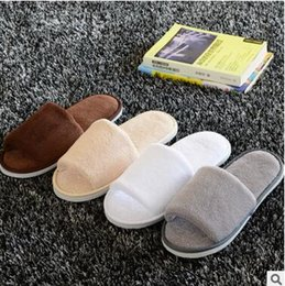 Wholesale Cloth Slippers - 7 colors Soft Hotel SPA Non-disposable Slippers Velvet Colored 7mm Thick Sole Casual Terry Cotton Cloth Spa Slippers, One Size Fits Most