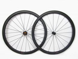 Wholesale Super Light Carbon Wheels - 700C 38mm depth light weight full carbon bike tubeless clincher road wheelset super quality wider wheels for cycling freeshipping now