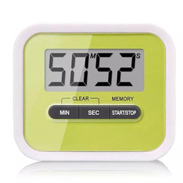 Wholesale Countdown Timer Display - LCD Digital Timer Kitchen Cooking Countdown LCD Display Timer Clock Alarm With Magnet Stand Clip With Retail Package Drop Shipping