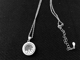 Wholesale Diamond Real - Fashionbrand real 925 Sterling Silver jewelry High quality crystal CZ Diamonds PENDANT necklace for women happy round classic PENDANT