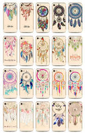 Wholesale Harry Potter Iphone 4s - Transparent Clear Dream Catcher Harry Potter Soft TPU Gel Back Cover Case For iPhone X 4S 5 5S 5C 6 6S 7 Plus