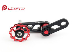 Wholesale Cnc Bike Wheels - Wholesale-Litepro folding bike BMX chain guide wheel CNC aluminum rear derailleur guide wheel for BYA412