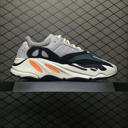 Wholesale Lace Material Shoes - 2017 New Wave Runner 700 Kanye West Running shoes size 36-46 With Boost bottom and 3M material