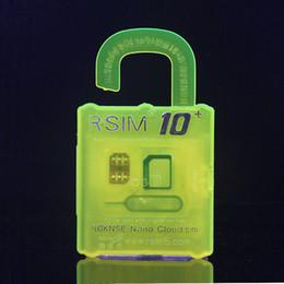 Wholesale Unlocked Sim Cards - Official R-SIM 10+ rsim10 RSIM Thin sim Card unlocking for Ios9.X 8.X 7.X For iPhone 4S 5s 5 6 6s Sprint AU Softbank T-mobile Original DHL