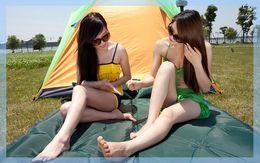 Almofadas de tenda on-line-Verão Pu colchão inflável automático inflável almofada de umidade ao ar livre almofadas espessas grande tenda ao ar livre almofada de dormir