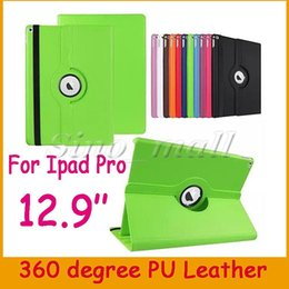 Wholesale China Pieces For Wholesale - 50 Pieces Free DHL Protect Case For Apple Ipad Pro 12.9'' PU Leather Case 360 degree Rotating Smart Cover