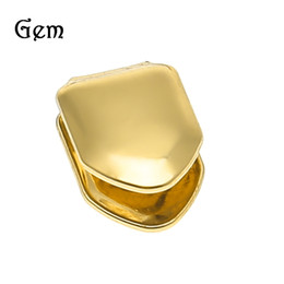 Wholesale Single Crystal Pendants - 2017 New Arrival Hiphop Grillz Gold Plated Single Tooth Luxury Hip Hop Jewelry For Men Europe and USA Popular Accessories