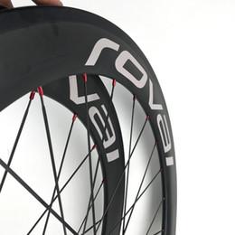 rodas de estrada de carbono china Desconto Fibra de carbono Road Bike Clincher 60mm Rodas China Fibra Carbono Aero 700C Roda