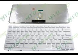 Wholesale Vaio E - New Laptop keyboard for Sony Vaio E Series SVE14 White keyboard white frame US English Version - 149021811