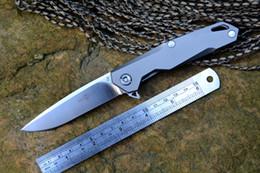 2019 coltello twosun TwoSun flipper coltello D2 lama rondella cuscinetti a sfera coltelli TC4 maniglia esterna da campeggio caccia coltello da tasca strumenti EDC spedizione gratuita